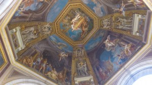 The ceiling in the Vatican
