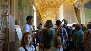Me at the crowded Vatican Museum
